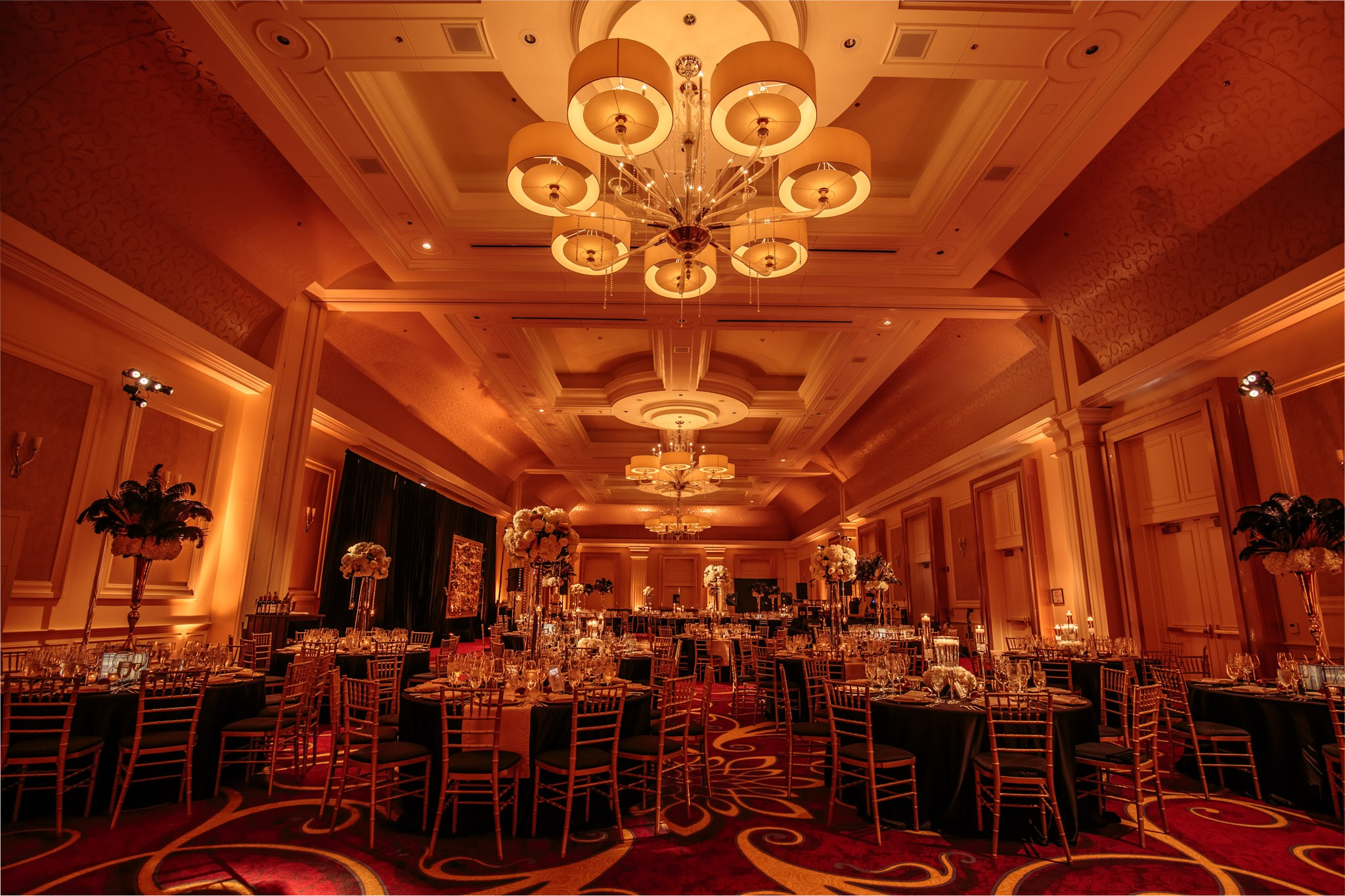 JW Marriot Chicago Elegant Wedding Reception