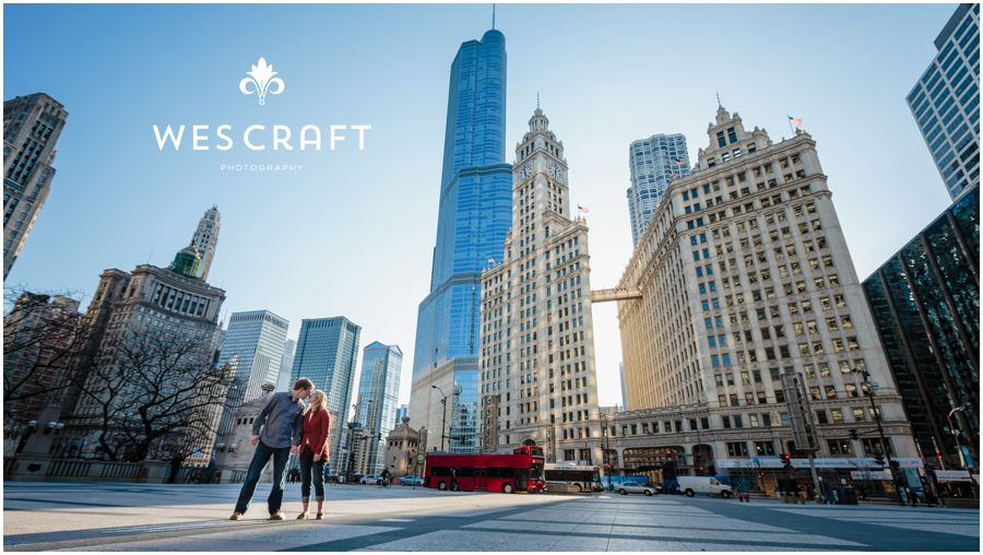 Michigan Avenue Engagement Wes Craft Photography