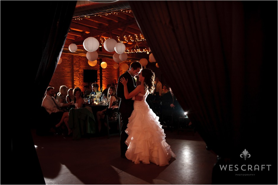 Weddings at Loft on Lake in Chicago's West Loop yield themselves to a modern industrial chic look.
