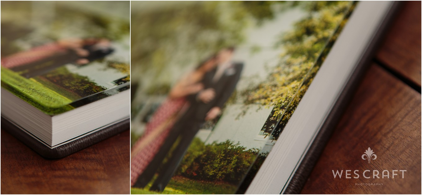 A thick acrylic houses a metallic print beneath for a stunning photographic album cover.