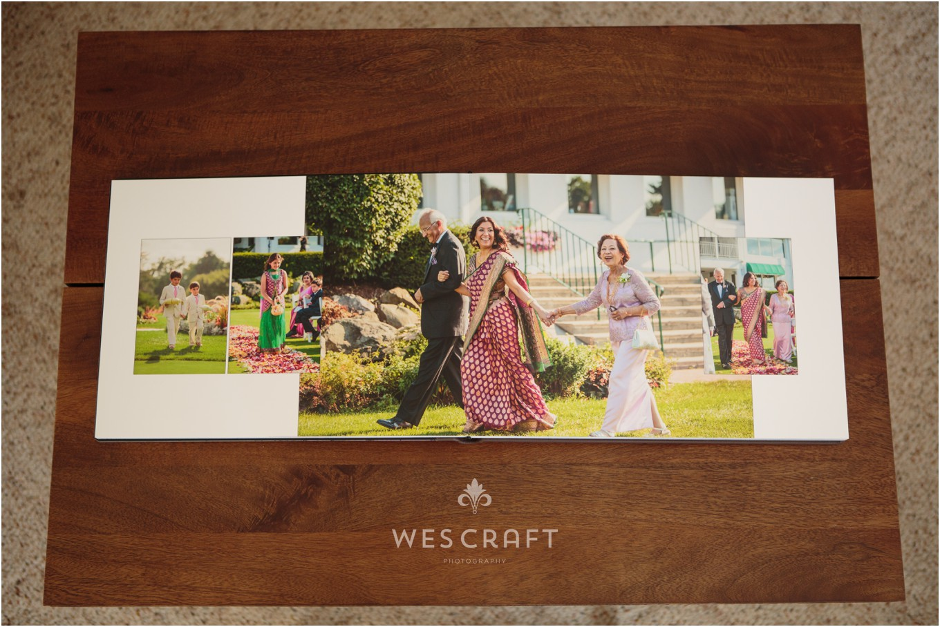 We love this album spread from the wedding ceremony.  Our Artisan 16x12 album comes with 25 spreads!