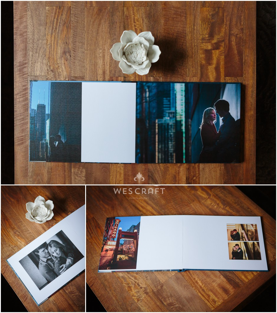 We'll help you choose your favorite 20 images from the session. We leave a little space in the book's design for your guests to sign into.