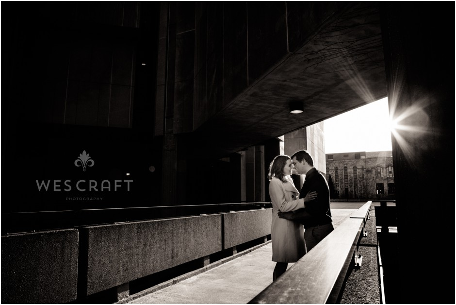 Wintery Northwestern University Engagement Photography
