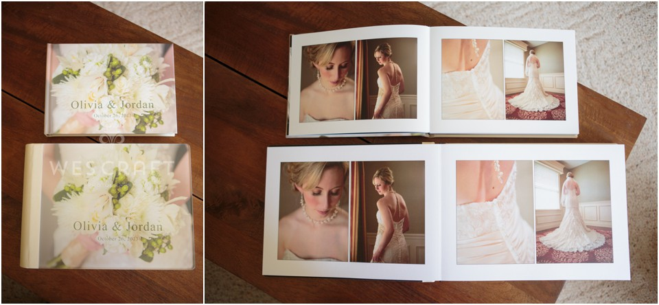 Olivia added a companion album to her order.  It's a small replica of her main album and makes a great gift for parents!