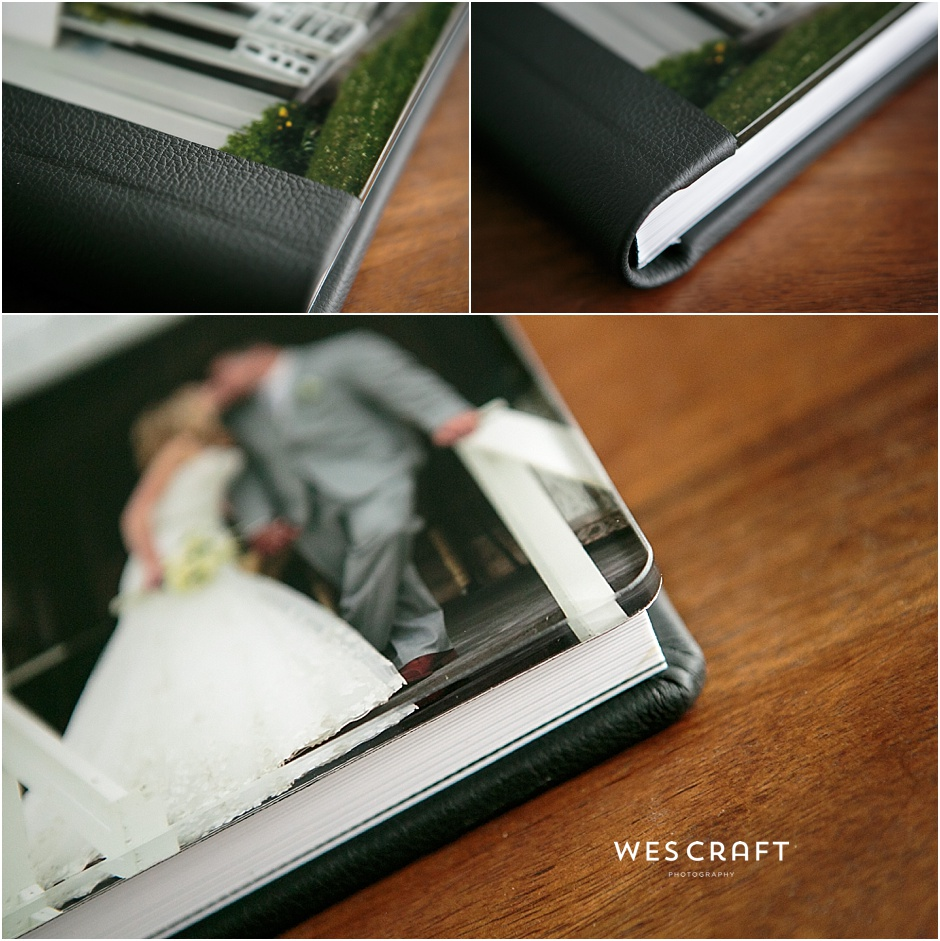 Heirloom Album | Acrylic Cover, Black Leather Binding, Contemporary Sleeve