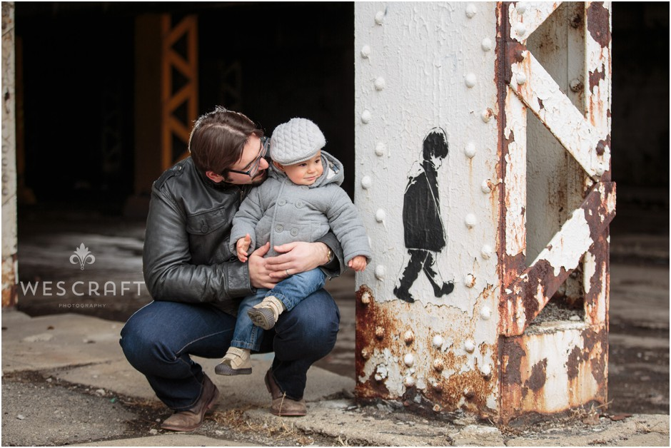 Urban Chicago Graffiti Family Photography Father and Son