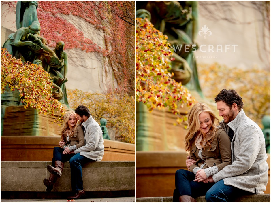 Art Institute Engagement Session, Wes Craft Photography, Fall Colors