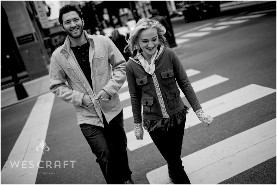 Art Institute Engagement Session, Wes Craft Photography, Candid Photographer, B&W