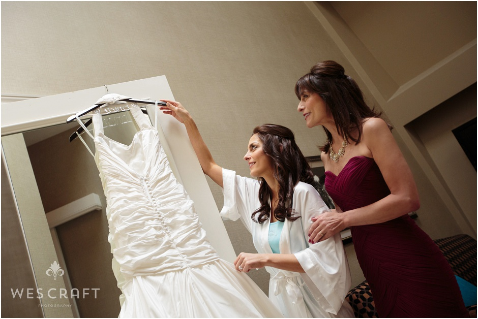 Getting Ready Bride, Beautiful Wedding Dress, Chicago Blackstone Wedding, Wes Craft