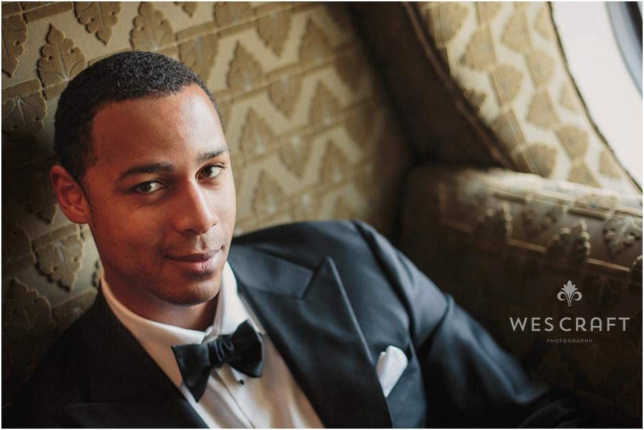 Bowtie Chicago Wedding, Black Tux, Handsome Groom, Wes Craft