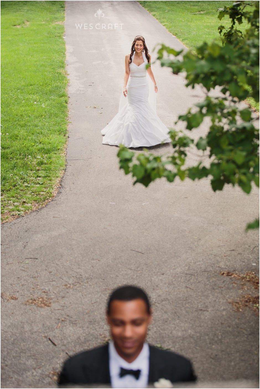 Chicago Wedding Photographer, First Look, Outdoor Wedding, Wes Craft