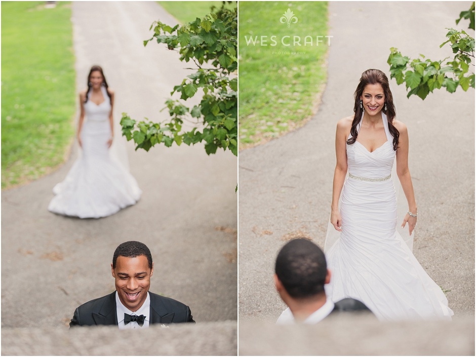 Romantic Chicago First Look, Groom's Reaction, Wes Craft