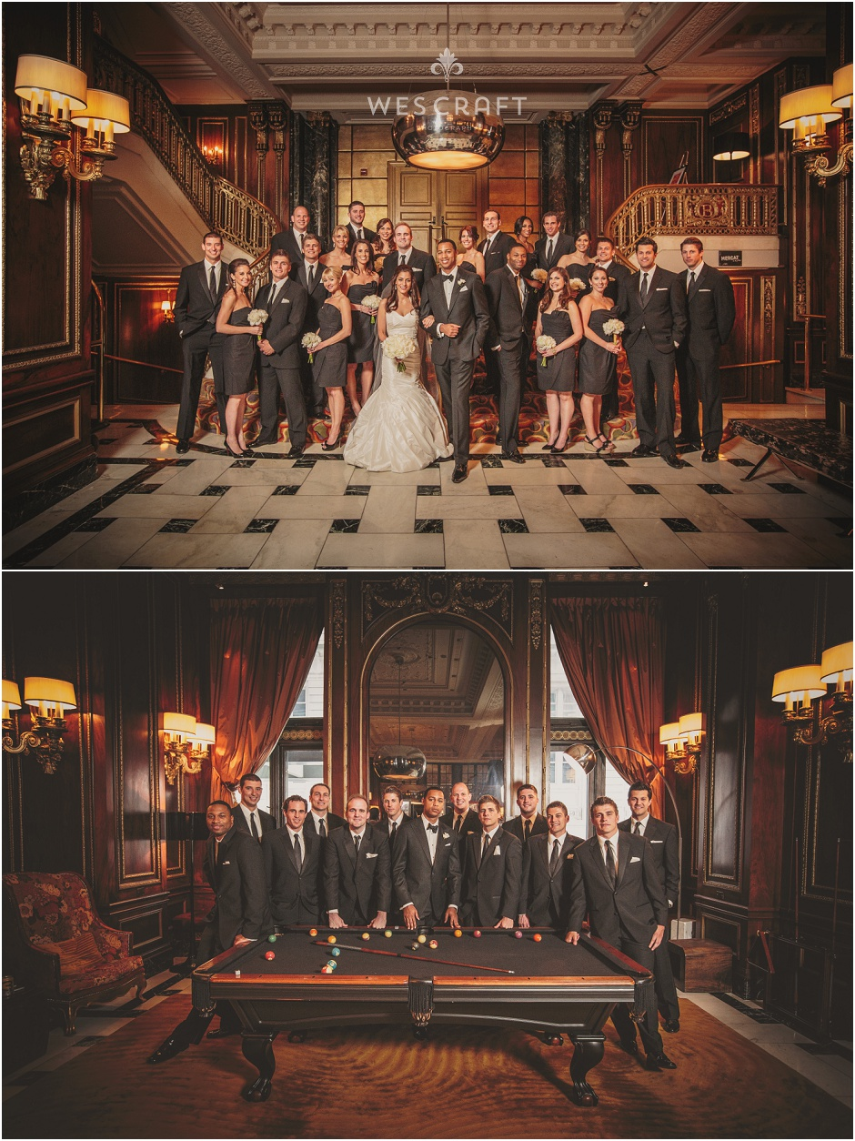 Chicago Blackstone Black Bowtie Wedding, Wes Craft Photography