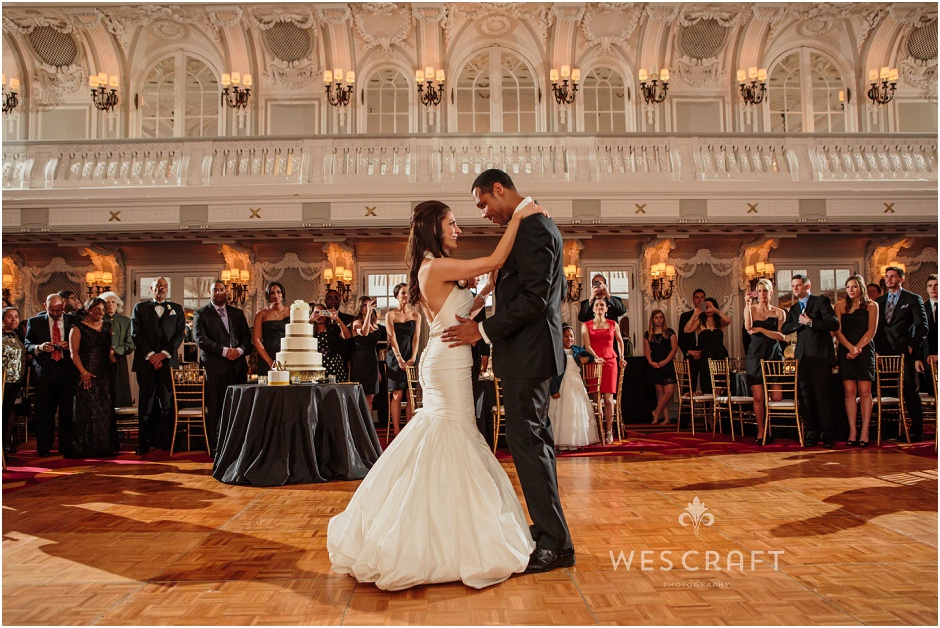First Dance, Bride and Groom, Wes Craft Photography, Mermaid Dress