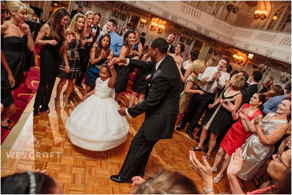 Chicago Wedding Photographer, Flower Girl First Dance, Wes Craft