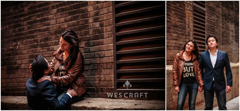 Chicago Engagement in Alleyway