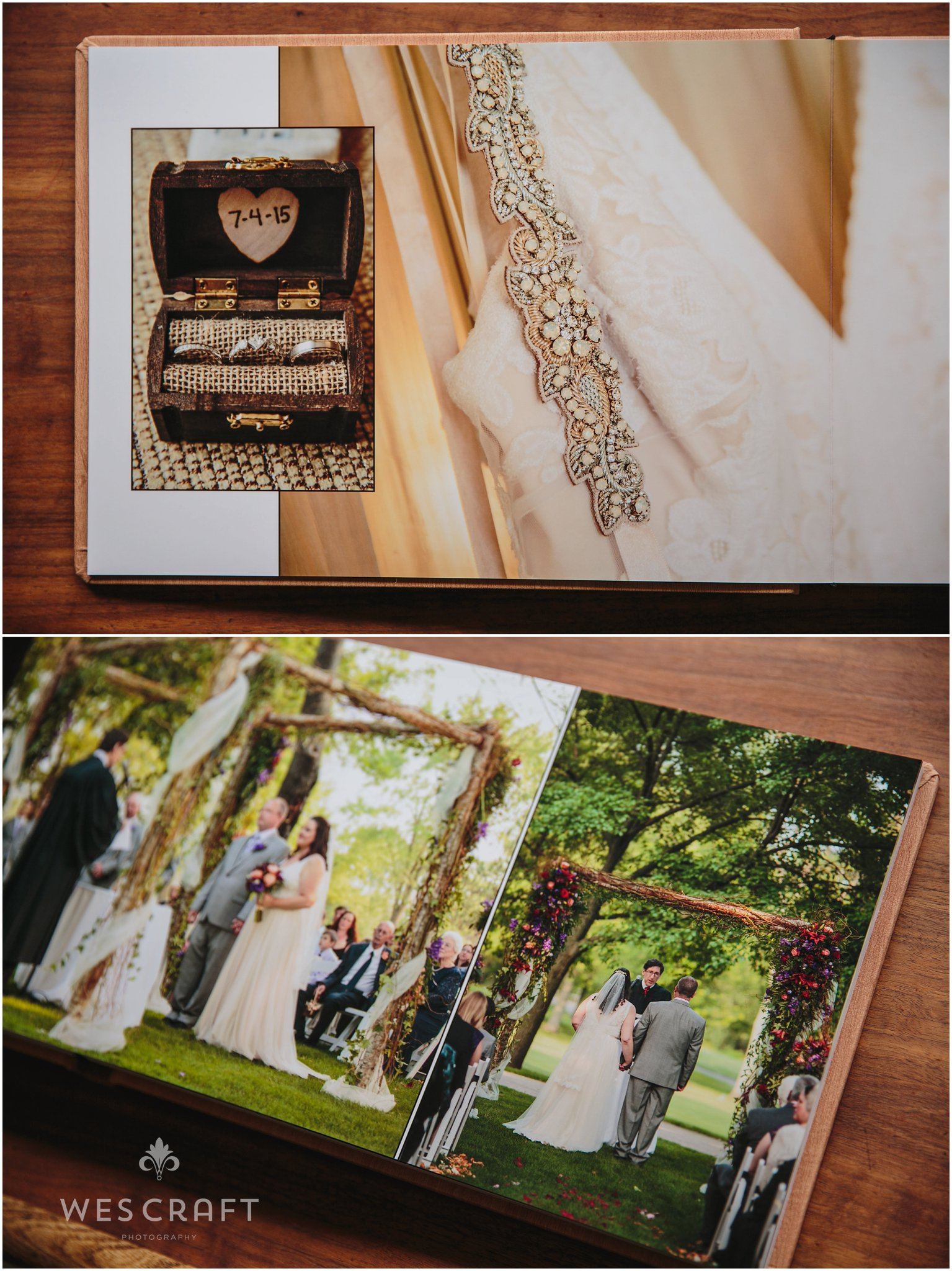 The wedding had rustic touches like a chuppah made of branches and wedding details from Etsy and BHLDN.
