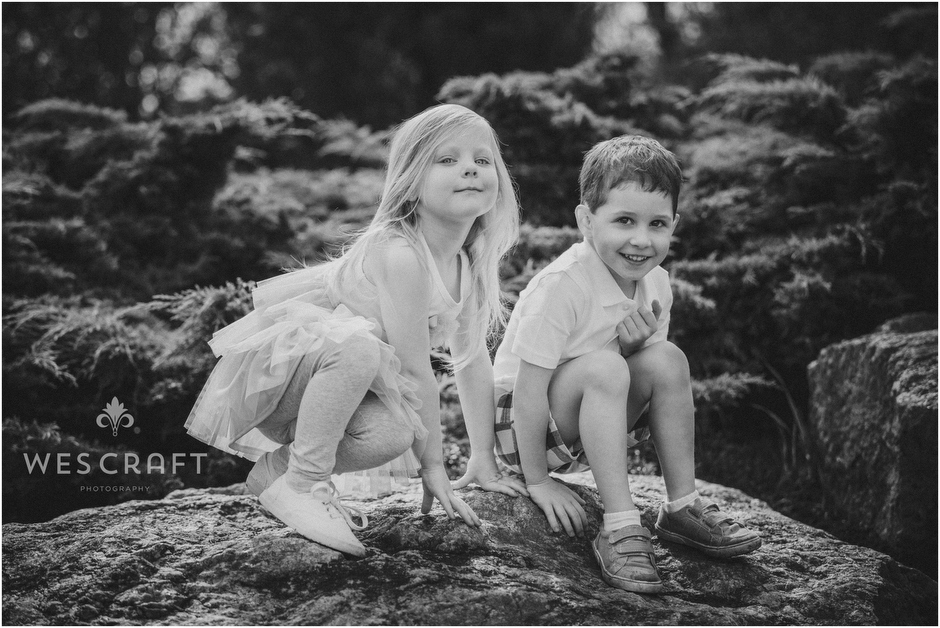 Black & White Family Photography by Wes Craft of Naperville IL