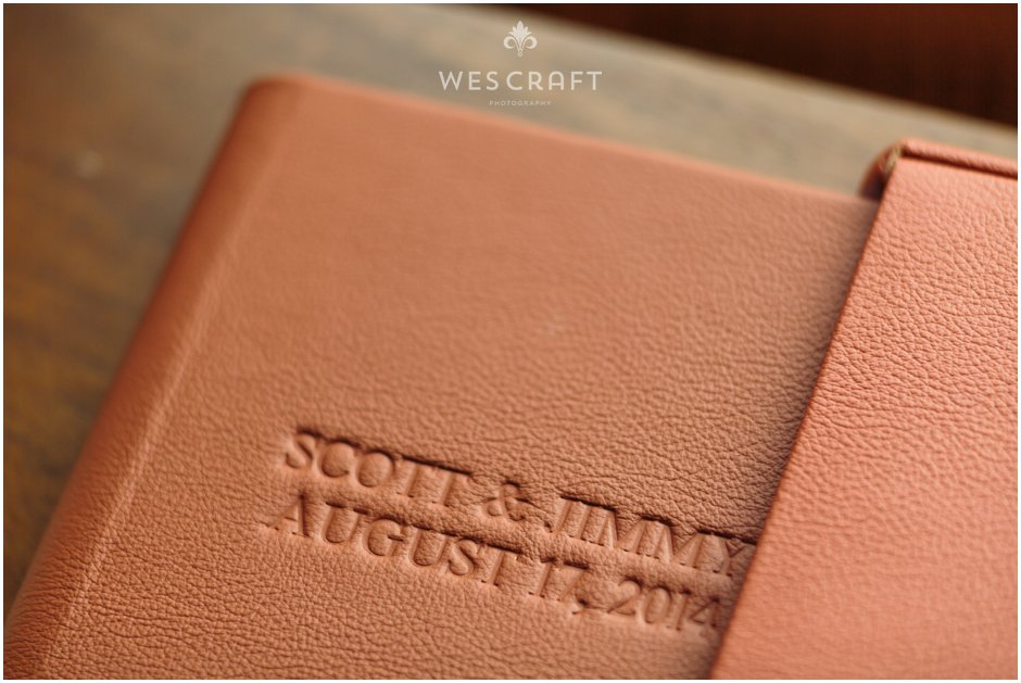Wedding Album | Sienna Leather, Debossing, Triangular Cameo, Metallic Paper