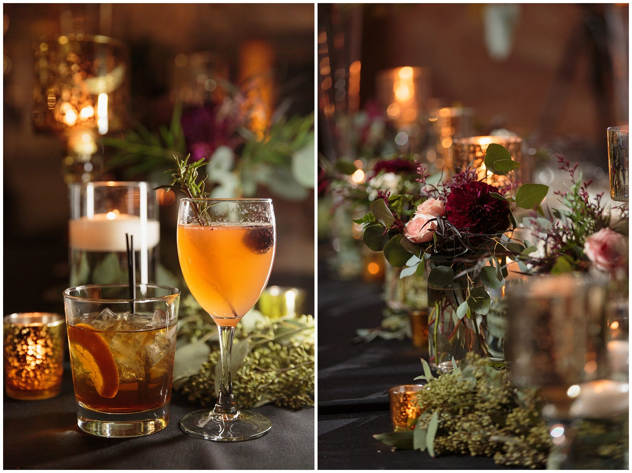 Harold Washington Library Wedding Reception Decor - Wes Craft Photography