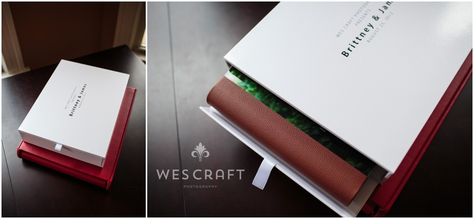 Your album sleeve can be in a contemporary laminate box or in leather to match your binding.