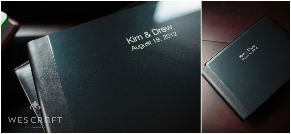 Our 12x8 album collection is known as the Keepsake Collection. We're showing it here with a black varnished metal cover.