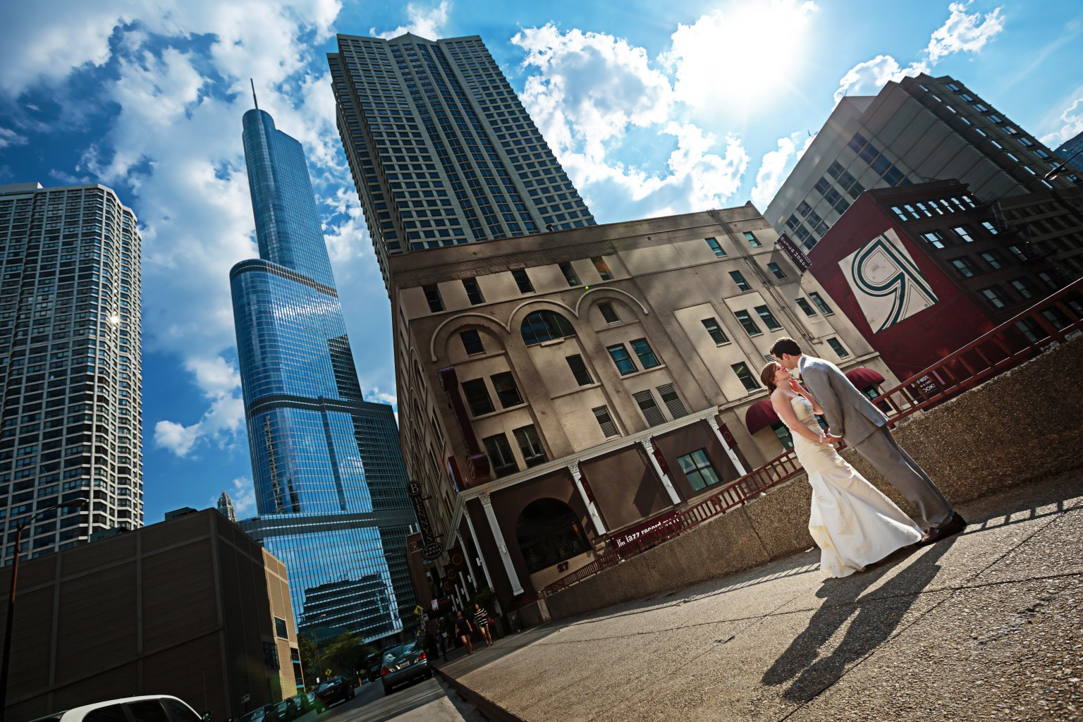 Chicago Skyline Wedding Photograph