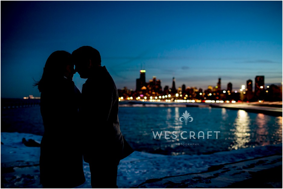 Chicago Skyline Engagement 001