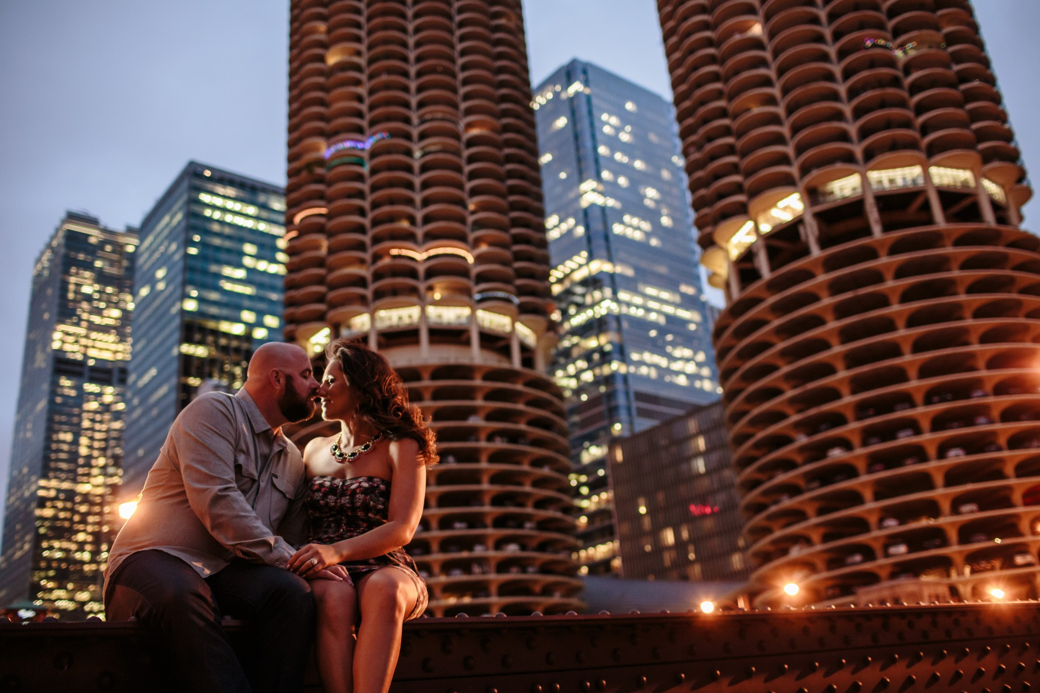 Chicago River Engagement Session