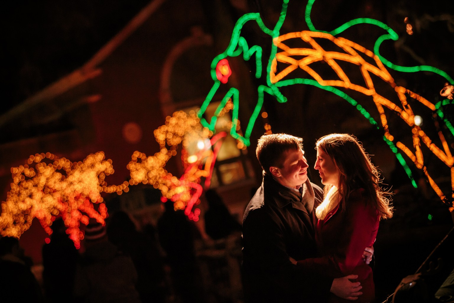 Winter Engagement Photography - Light Dragon