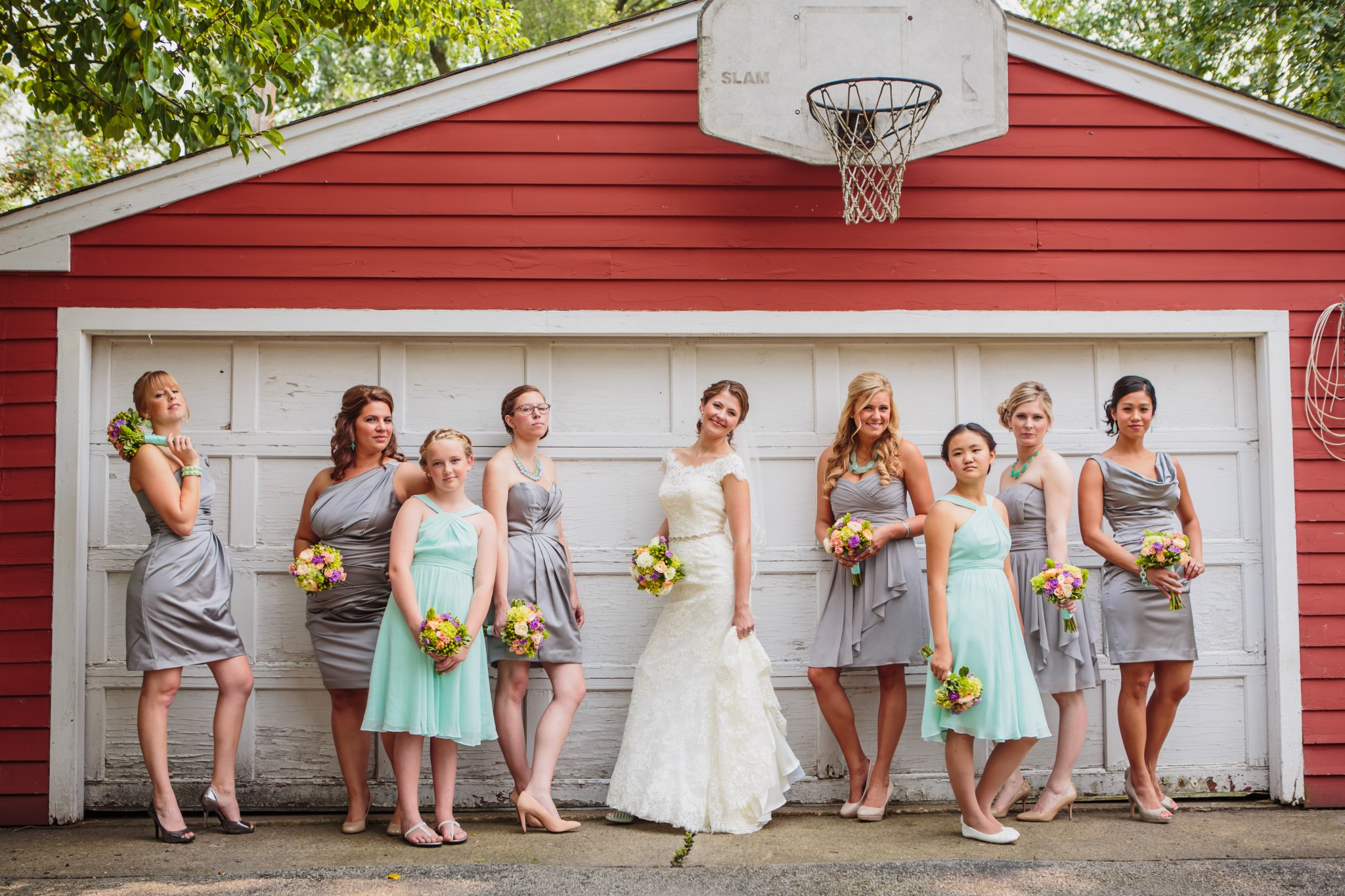 Quirky Wedding Party Photos by Wes Craft Photography, Chicago, Naperville, IL