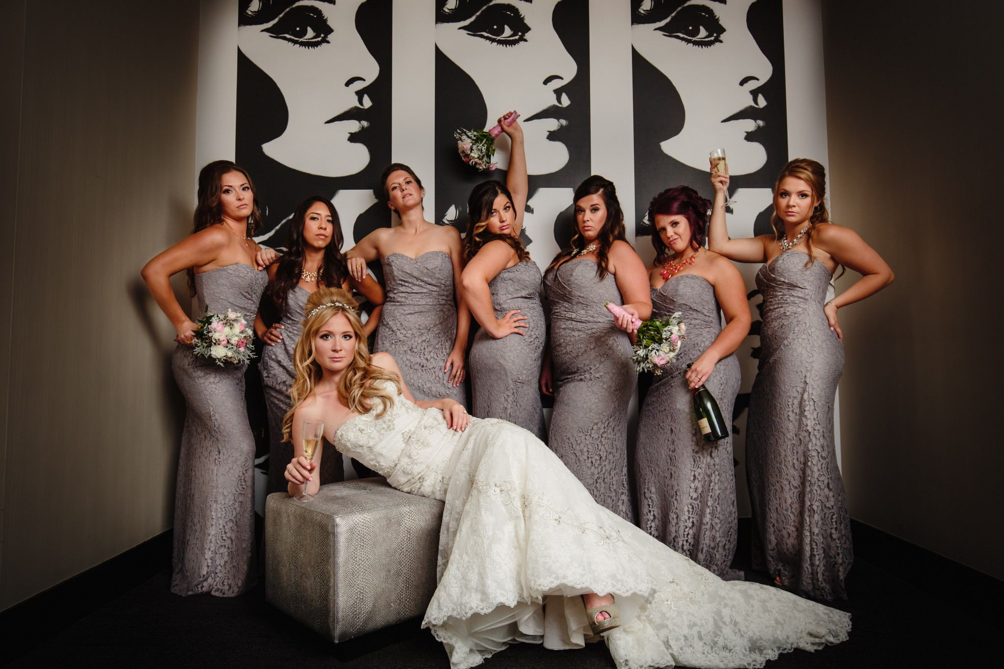 Sassy Bridesmaids at the W Hotel Chicago City Center - Best Chicago Wedding Photography
